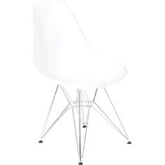 Krzesło P016 PP białe, chromowane nogi