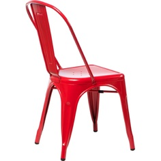 Krzesło Paris czerwone inspirowane Tolix