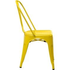 Krzesło Paris żółte inspirowane Tolix
