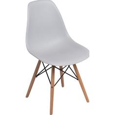 Krzesło P016W PP light grey, drewniane nogi