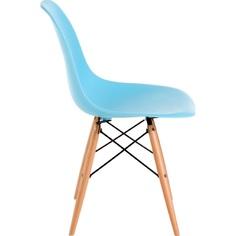 Krzesło P016W PP ocean blue, drewniane nogi