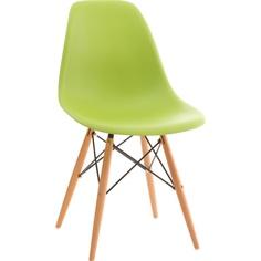 Krzesło P016W PP zielone, drewniane nogi