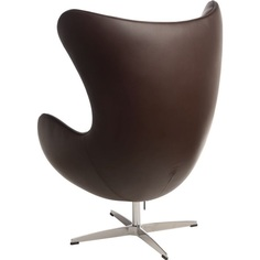 Fotel Jajo brązowy ciemny skóra 43 Premium