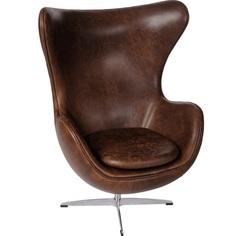 Fotel Jajo brązowy ciemny vintage Premium