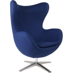 Fotel Jajo szeroki wełna niebieska 2729
