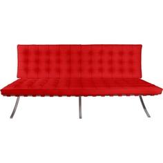 Sofa BA2 2 osobowa, czerwona skóra TP