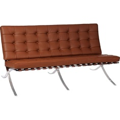 Sofa BA2 2 osobowa, jasny brąz skóra TP