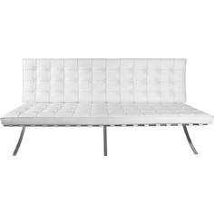 Sofa BA3 3 osobowa, biała skóra TP