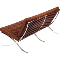 Sofa BA3 3 osobowa, jasny brąz skóra TP