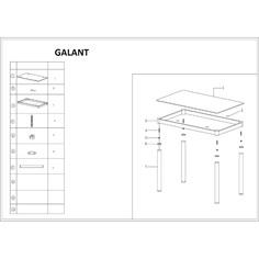 Stół Galant biały