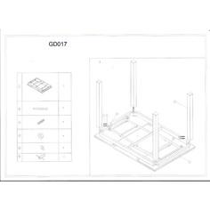 Stół GD-017 szary