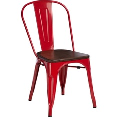 Krzesło Paris Wood czerwony sosna orzech