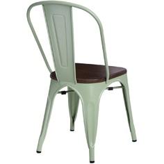 Krzesło Paris Wood zielony sosna orzech