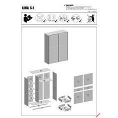 LIMA S1 szafa dąb sonoma / biały