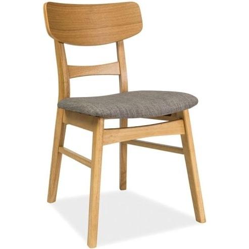 Drewniane Krzesło Tapicerowane Cd 61 Szaredąb Signal Meble Nowoczesnenet