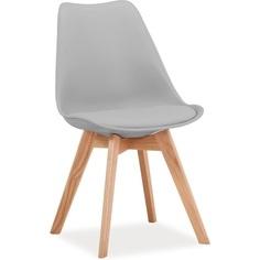 Krzesło Kris buk/jasny szary