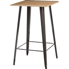 Stół barowy Paris Wood metaliczny jesion