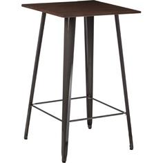 Stół barowy Paris Wood metaliczny sosna orzech