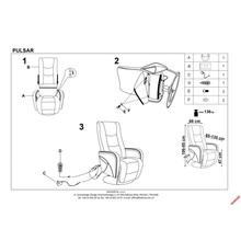 PULSAR recliner z funkcją masażu i podgrzewania cappuccino