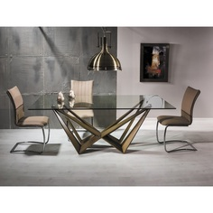 Stół Aston złoto antyczne