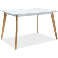 Stół Declan I biały / buk