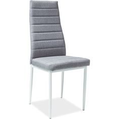Krzesło H-266 szary, tap. 06 + biały