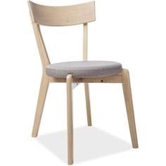 Krzesło Nelson szary, tap. 84 / dąb miodowy