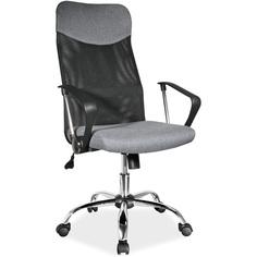 Fotel obrotowy Q-025 szary + czarny