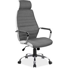 Fotel obrotowy Q-035 szary + biały