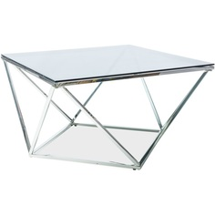 Ława Silver A szkło + chrom