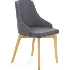 TOLEDO krzesło dąb miodowy / tap. Inari 95 ciemny grafit