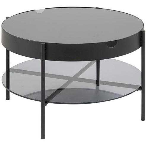 Niesamowite Szklany stolik kawowy Tipton szkło/czarny 75 D2.Design - Meble BJ26