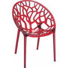 Krzesło CRYSTAL czerwone przezroczyste