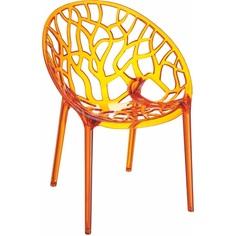 Krzesło CRYSTAL pomarańczowe przezroczyste
