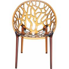 Krzesło CRYSTAL bursztynowe przezroczyste