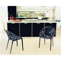 Krzesło CRYSTAL czarne przezroczyste