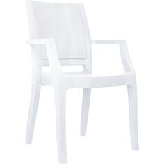 Krzesło ARTHUR lśniące białe
