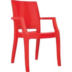 Krzesło ARTHUR lśniące czerwone