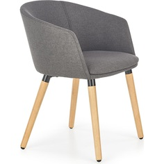 K266 krzesło ciemny popiel