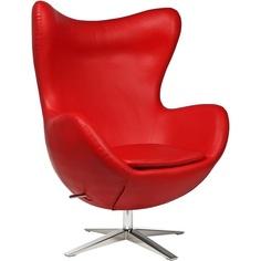 Fotel Jajo EcoLeather Czerwony