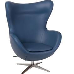 Fotel Jajo EcoLeather Ciemny niebieski