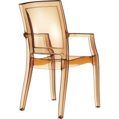 Krzesło ARTHUR bursztynowe przezroczyste