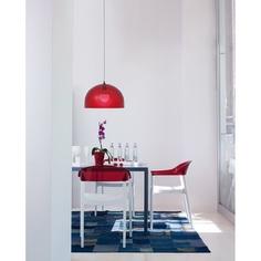 Krzesło CARMEN białe / czerwone przezroczyste