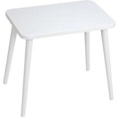 Prostokątny stolik dziecięcy Attina / szary 41