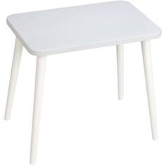 Prostokątny stolik dziecięcy Attina / biały 41