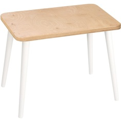 Prostokątny stolik dziecięcy Caspian / biały 41