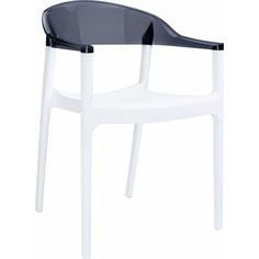 Krzesło CARMEN białe / czarne przezroczyste