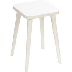 Kwadratowy taboret Crystal White / biały 47