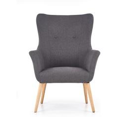 COTTO fotel wypoczynkowy ciemny popiel