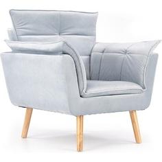 REZZO fotel wypoczynkowy jasny popielaty